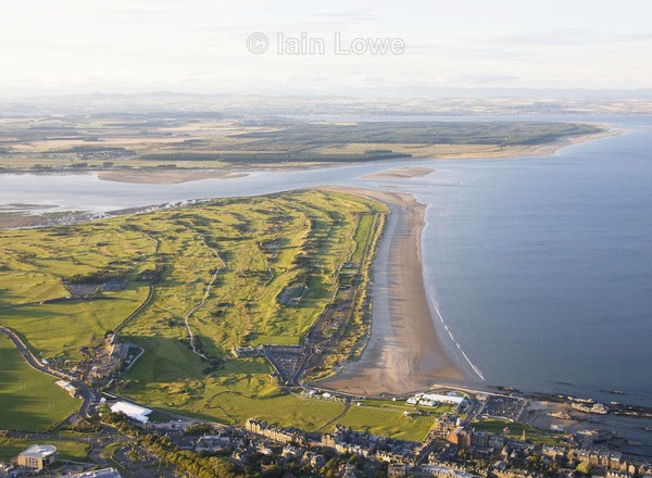 Aerial St Andrews Links The Old  New  Jubilee Eden  Strathyrum courses - Scottish Links Aerial Images