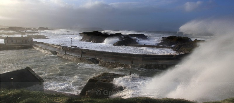 Sudden Monster Wave - Causeway Coastal Route (Storms and Rainbows)