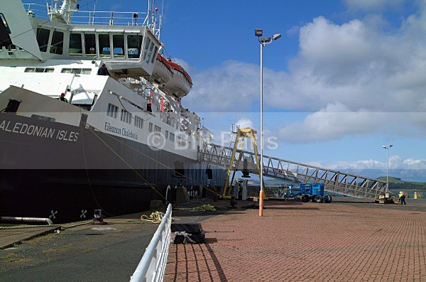 Arran Ferry at  Ardrossan - Land and Sea