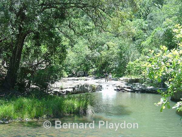 The boulder pool - Glen Avon Falls