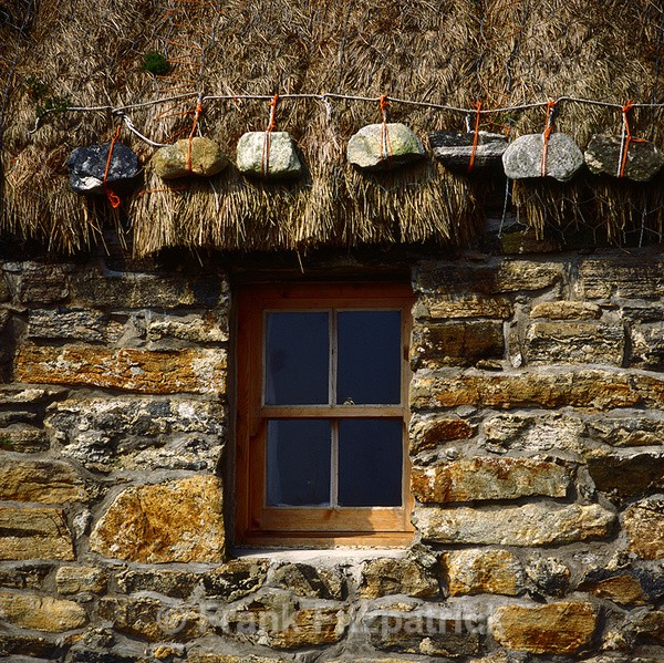 Croft house window detail, Isle of Benbecula - New images of Scotland