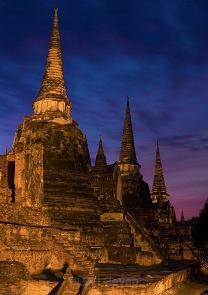 Three Chedis Sunset - Ayutthaya