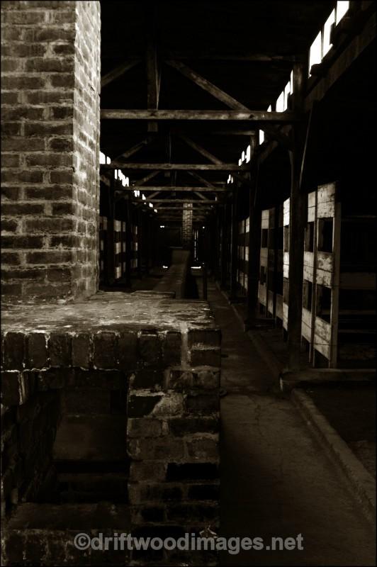 Birkenau  hut interior 22 sepia - Auschwitz/Birkenau