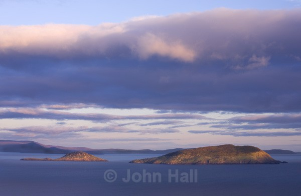 view from bolus head towards west cork at evening