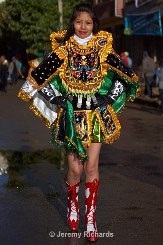 Diablada Dancer - Oruro Carnival 2017