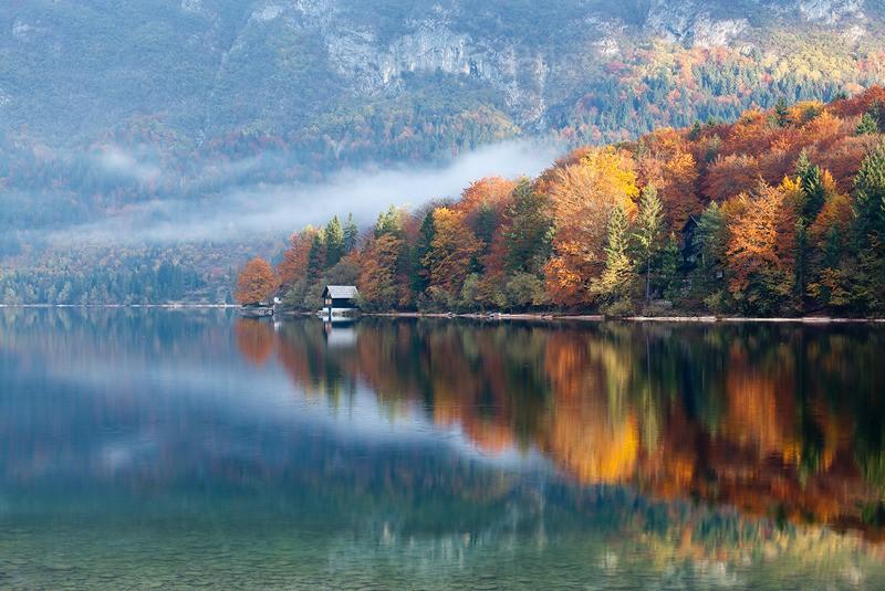 Autumn Boathouse - Photographs of Slovenia