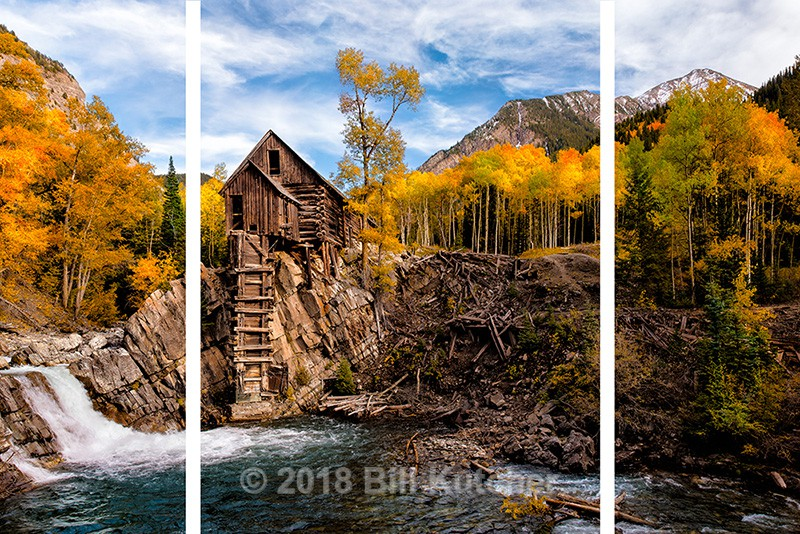 Crystal Mill H Triptych - Current Show