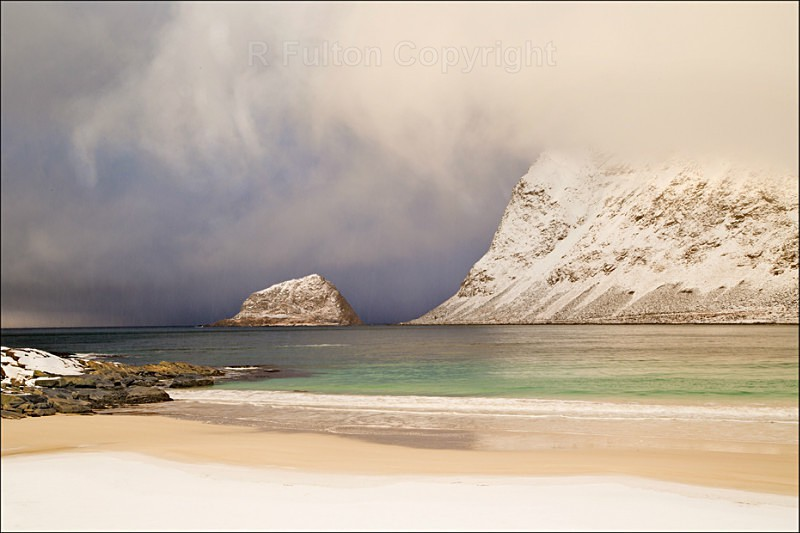 Snow Sand and Sea - Lofoten Islands - Norway
