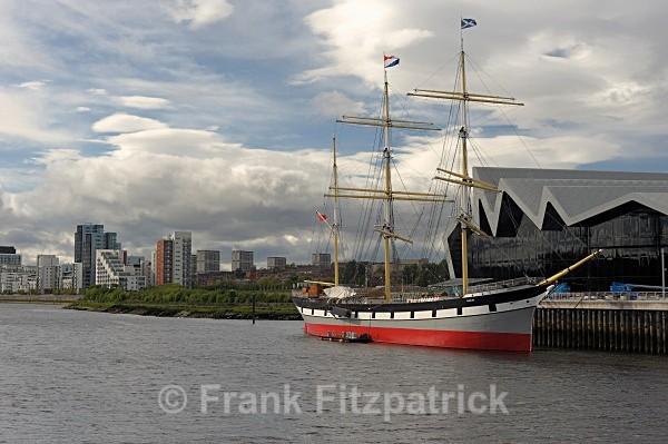 Sailing ship Glenlee at the Riverside Museum, Glasgow. - Glasgow