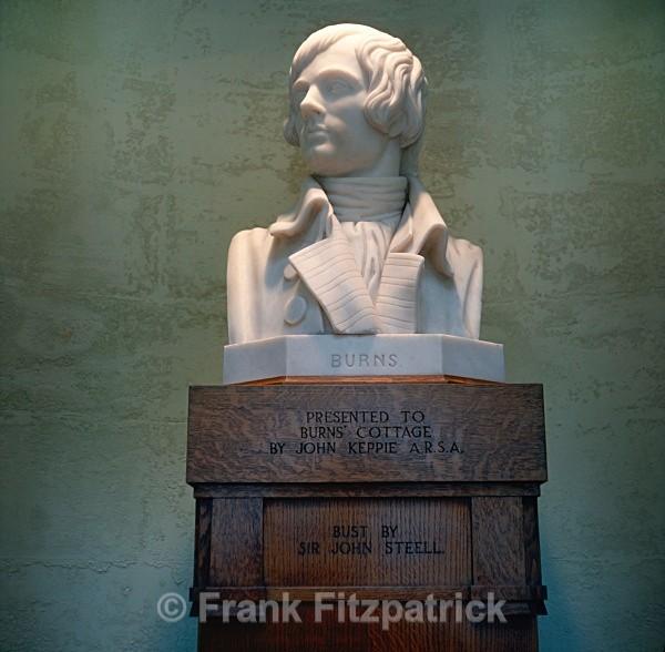 Marble bust of Robert Burns. - Robert Burns