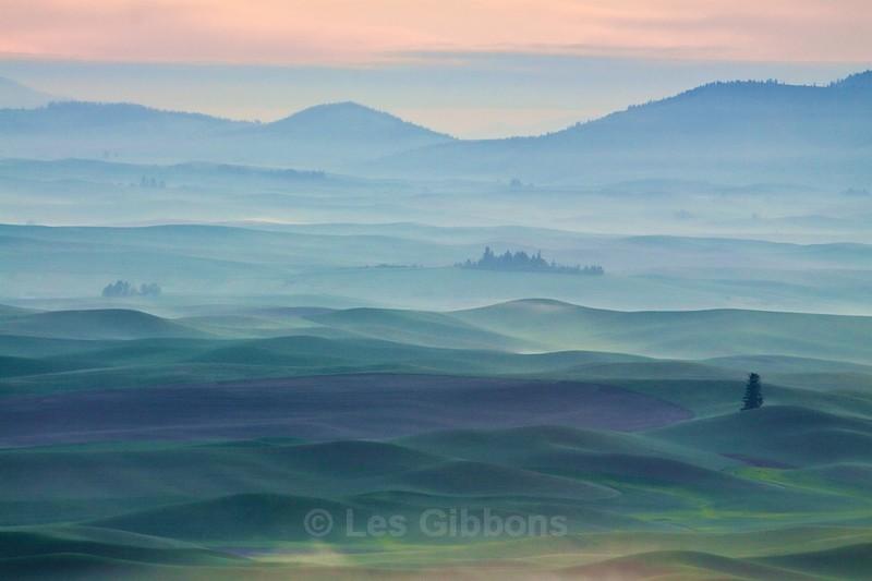 hills in mist - Palouse