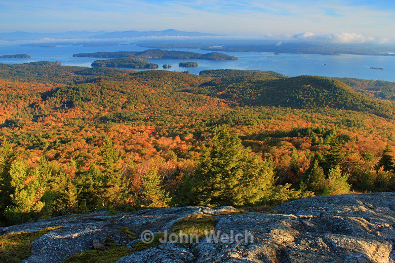 Autumn Morning on Mt. Major - Lakes Region & Southern New Hampshire