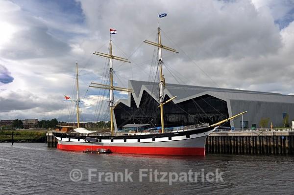 Sailing ship Glenlee at the Riverside Museum, Glasgow. - Glasgow