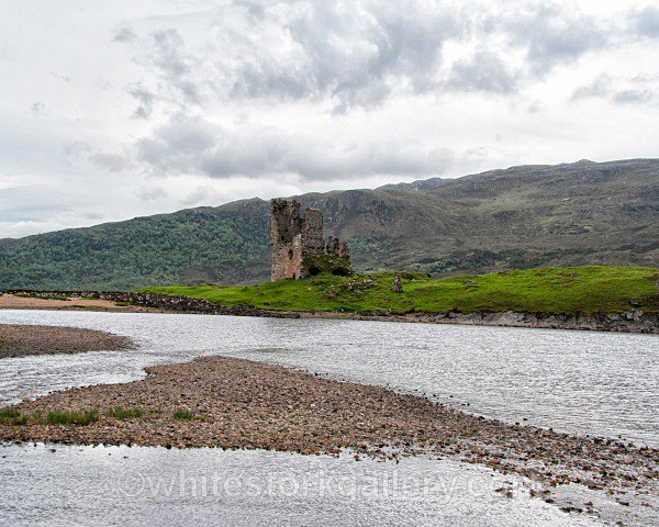 Castle at Loch Assynt - Scottish Highlands