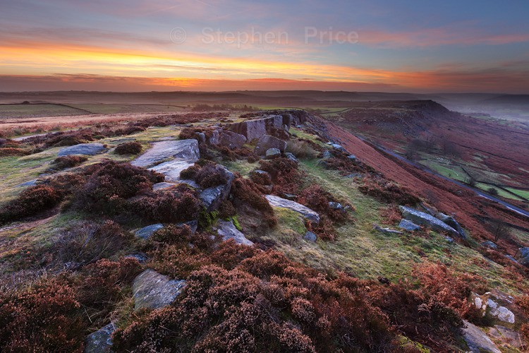 Curbar Edge Derbyshire Dawn | Peak District | Photography