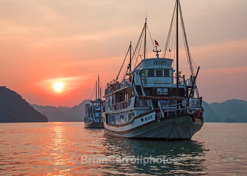 IMG_5713 Sunset, Halong bay, Northern Vietnam - Vietnam
