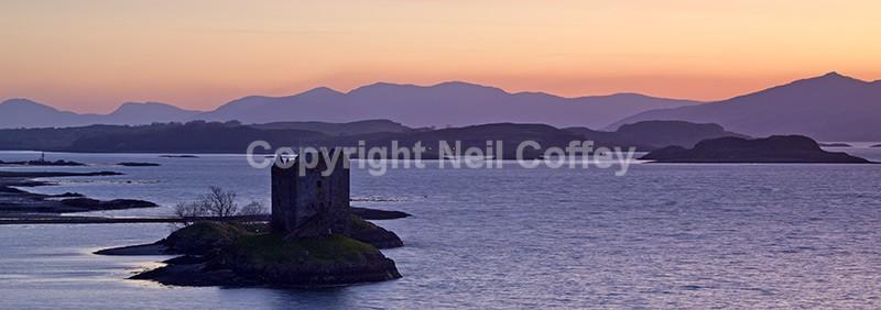 Castle Stalker & Loch Linnhe, Argyll & Bute - Panoramic format
