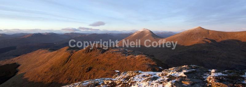 Ben More & Stob Binnean from Cruach Ardrain, Stirlingshire - Panoramic format