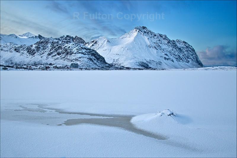 Frozen Fjord - Lofoten Islands - Norway