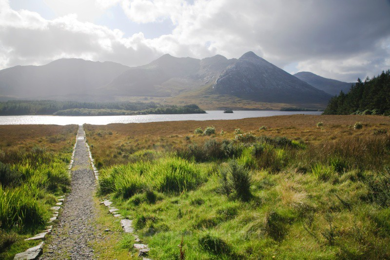 Path to lake - West of Ireland