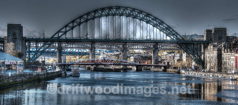 Newcastle Tyne bridges HDR reduced - High Dynamic Range pictures