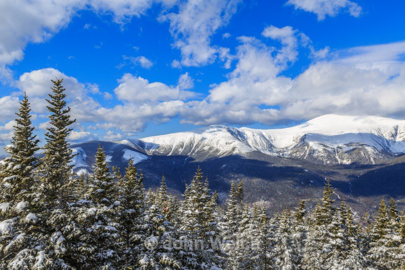 Mt. Washington from Wildcat D summit in winter - White Mountain National Forest and Northern New Hampshire