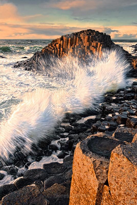 Giant's Causeway - Crashing Waves - Derek Smyth Photography