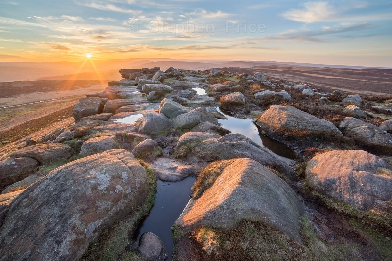 Stanage Edge Peak District | Sunset Landscape Photography