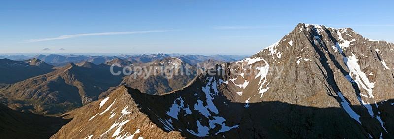 Carn Mor Dearg Arete & Ben Nevis, Highland - Panoramic format