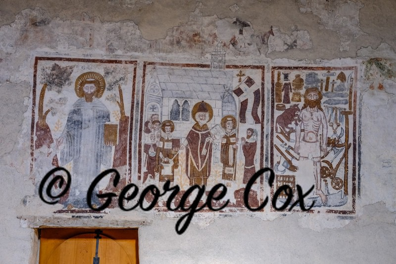 Mural inside Mistail Church - Tiefencastel - Switzerland