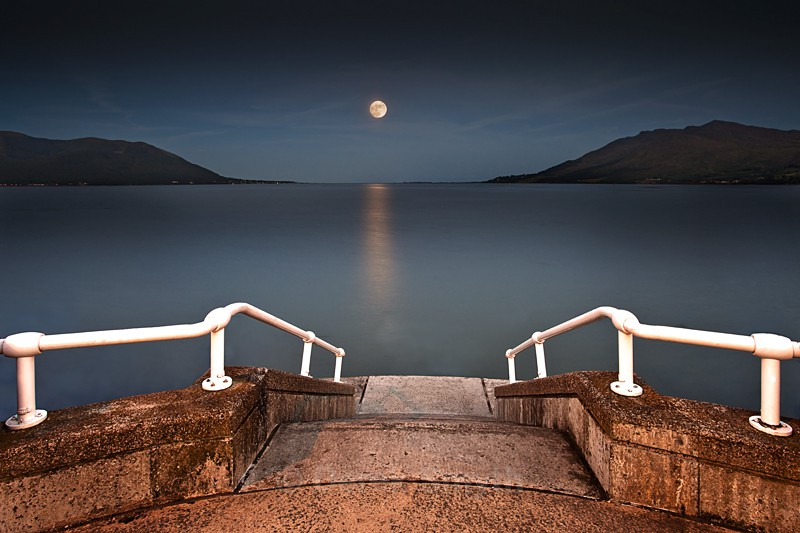 Moonrise Over Carlingford Bay - Warrenpoint