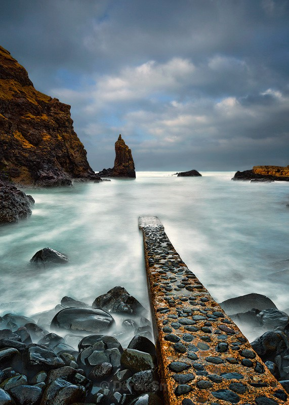 Portcoon Jetty On The Antrim Coast