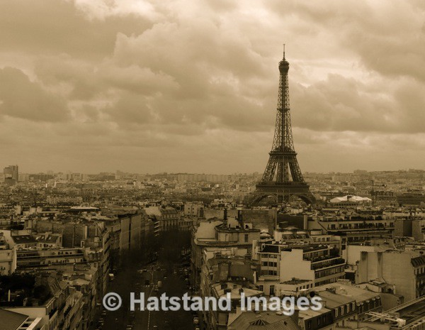 Paris from the Arc de Triomphe - places