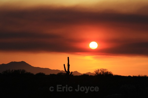 Smoke Haze Sunset - Tuscon, Arizona