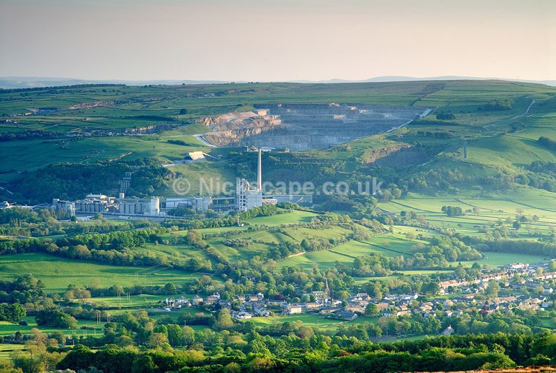 Hope Valley Cement Works & Quarry from Win Hill - Peak District - Peak District Landscape Photography Gallery