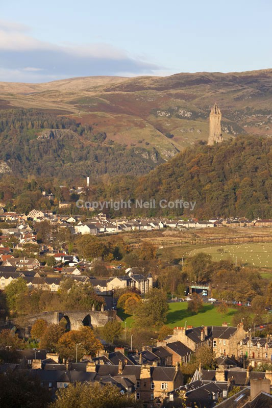 The Wallace Monument from Stirling Castle - Cities & Towns