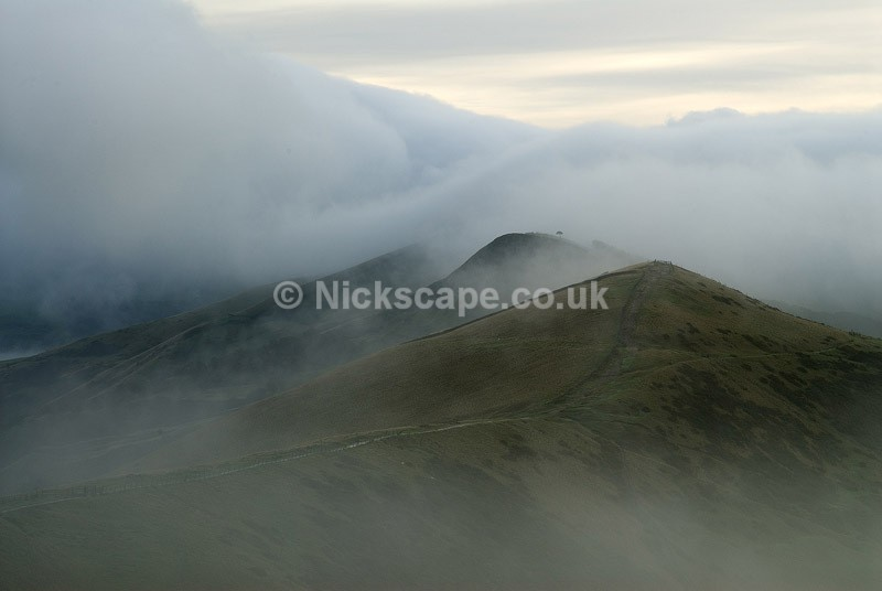 The Great Ridge from Mam Tor - Derbyshire130 - Peak District Landscape Photography Gallery