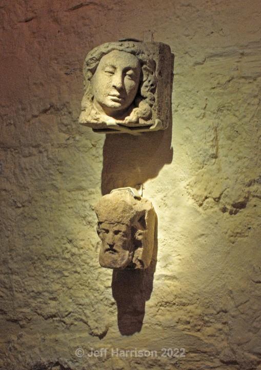 Carved heads (image St D 01) - Urban Landscapes & Buildings