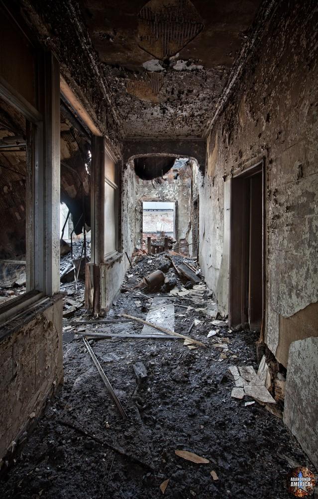 down the charred black corridor - Conquistador China*