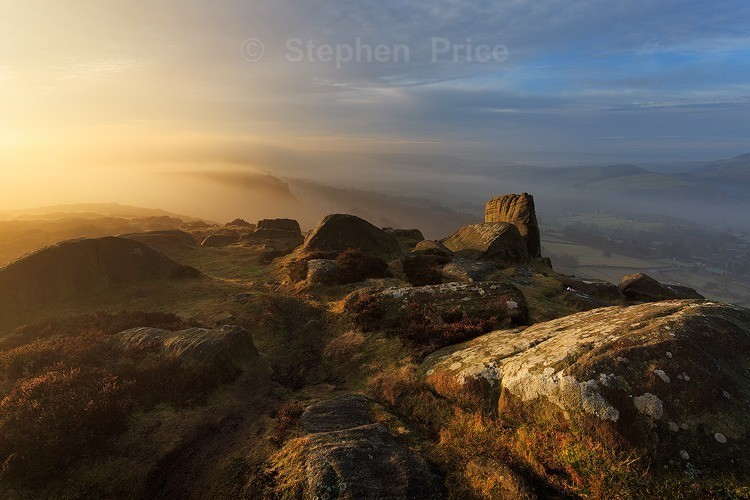 Misty Photograph of Curbar | Peak District Location