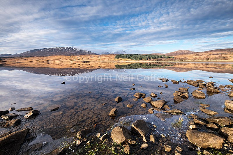 Loch Tulla & the Black Mount hills, Argyll & Bute2 - Landscape format