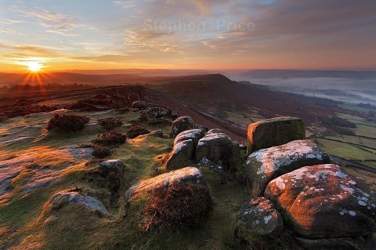 Sunrise Misty Dawn | Curbar Edge | Peak District