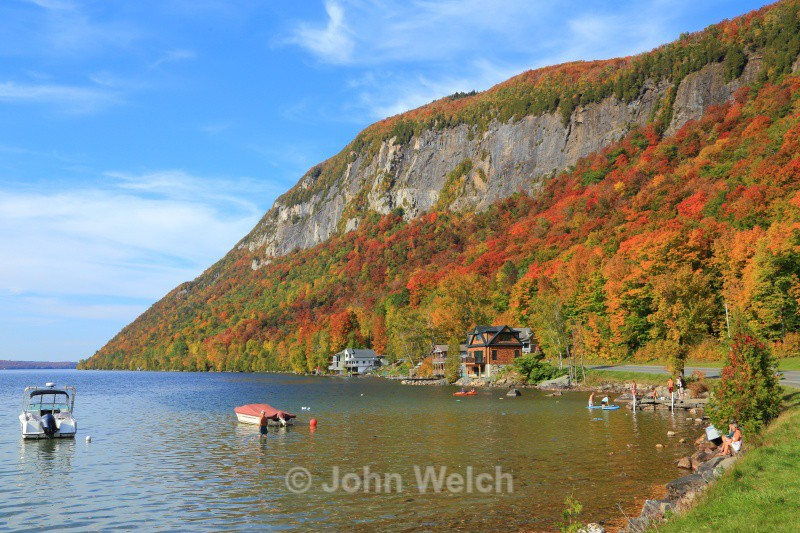 Warm Autumn Day at Lake Willoughby - Vermont & Long Trail
