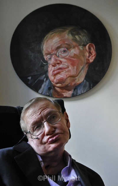 Prof Stephen Hawking portrait  editorial photography Cambridge UK  Professional Photographer Cambridge UK