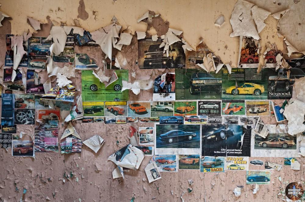 Wall collage, Holmesburg Prison, Philadelphia PA | Abandoned America by Matthew Christopher