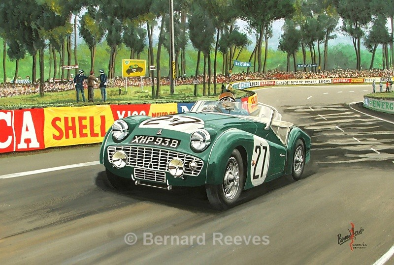 Triumph TR3 - Peter Jopp at Le Mans 1959 - Classic cars
