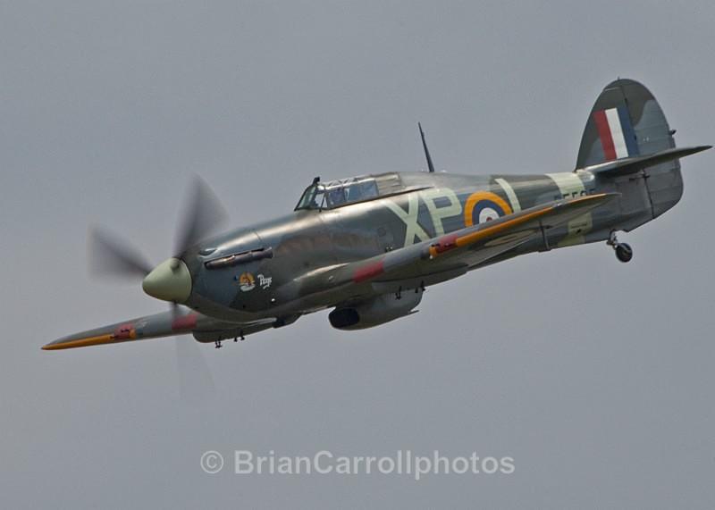 RAF.Hawker Hurricane 2b G-HHII/BE505/XP-L - Shuttleworth Air Show