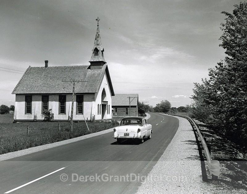 Jemseg Flat New Brunswick Trans-Canada Highway July 1954 - Historic New Brunswick