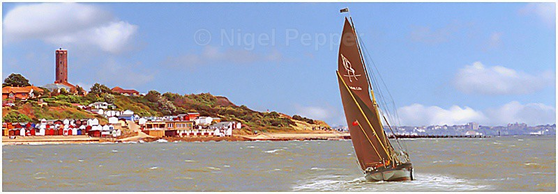 Barge Passing Naze - Thames Sailing Barges and Smacks