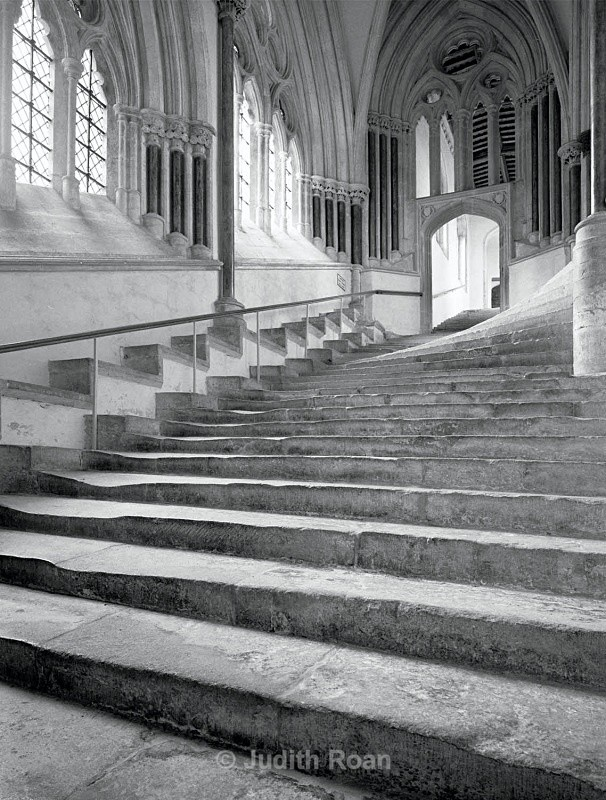Wells Cathedral Sea of Stairs - Images from England